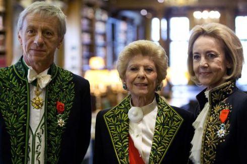 Dominique Bona, Hélène Carrère d'Encausse et Jean-Christophe Rufin